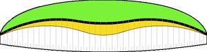 возможные расцветки параплана ICARO Cyber TE